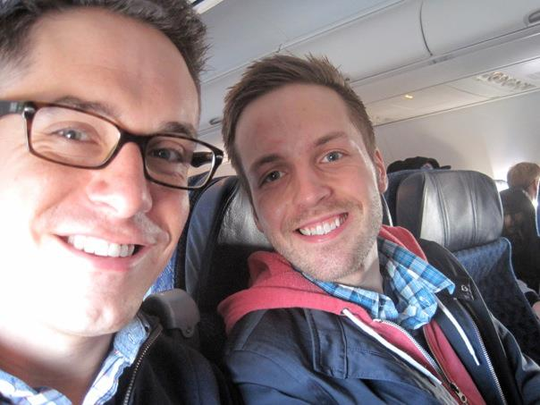 Lance and Jeff on a plane!